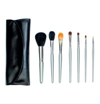 7pc Foldover Brush Set - Silver